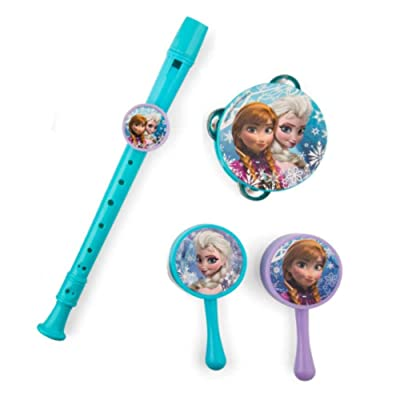 Disney Frozen Musical Instrument Set (Recorder, Maracas, Tambourine): Toys & Games