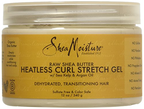 Curl Definition - Shea Moisture Raw Butter Heatless Curl Stretch Gel for Unisex, 12 Ounce