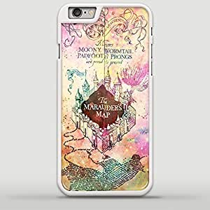 Harry Potter Inspired Marauders Map Galaxy Nebula Design MEL for iPhone 6/6s Plus White case