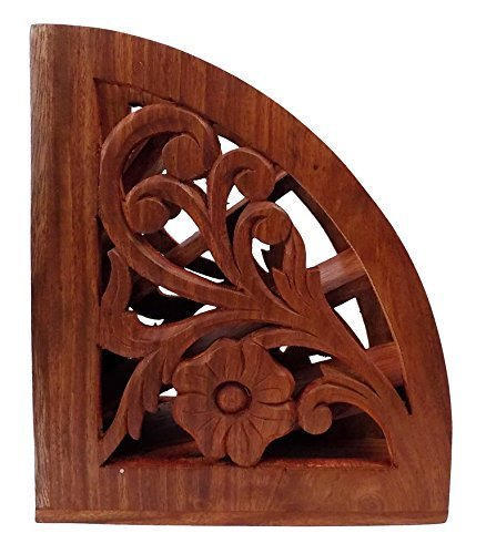 Christmas Multi Remote Control Stand/Organizer/Rack.TV Remote Organiser. Beautiful Indian Rosewood Design with Carving. Can Hold 5 remotes. Tv Remote, Music System/Blue ray/A.C./ Remote Holder Stand