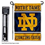 Notre Dame Fighting Irish Garden Flag with Stand Holder