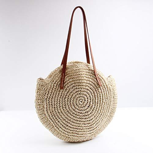 Amazon.com: Bolso de verano redondo de pajita tejida en la ...
