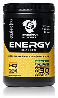 Best Natural Caffeine Free Energy Vitamins Supplement Herbal Pills Booster for Men, Women - Replenish, Endure, And Recover