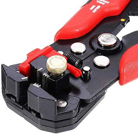 WY-WY ワイヤーストリッパー圧着プライヤーターミナル・アイプライヤーツールを調整0.2-6.0mm²24-10AWG多機能ストリッパ自動 ラジオペンチ
