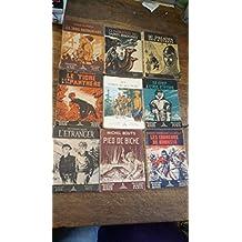 lot de 9 livres collection signe de piste : Le paladin des essarts - Le tigre et sa panthère - la patrouille des saints innocents - Les trois pastoureaux - le chef à l'œil d'ivoire - les forts et les purs - l'étranger - Pied de biche les coureurs de biche -