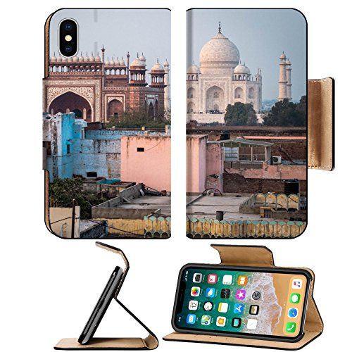 Msd Premium Apple Iphone X Flip Pu Leather Wallet Case The Taj Mahal In Agra India Image 24774578