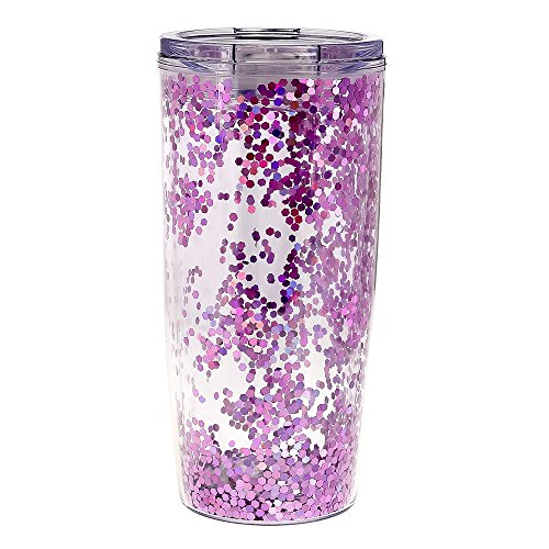 men's Confetti Tumbler, Pink Confetti, One Size (Inlaid Straw)