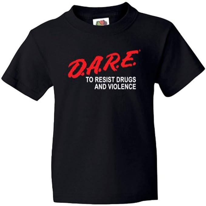 c3c171c7 Amazon.com: D.A.R.E. Officially Licensed Dare Classic Graduation Shirt:  Clothing