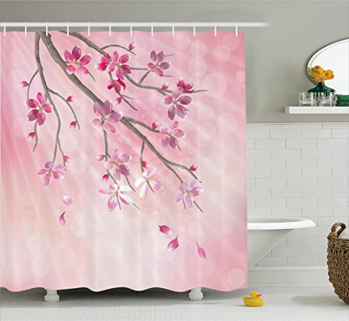 Ambesonne Illustration Blossoms Background Accessories