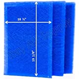 Dynamic Air Cleaner Replacement Filter Pads 20 x 21 5/8 Refills (3 Pack)