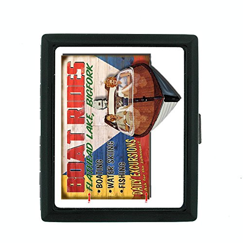 Metal Cigarette Case Vintage Poster D-238 Boat Rides Flathead Lake Bigfork by Perfection In Style