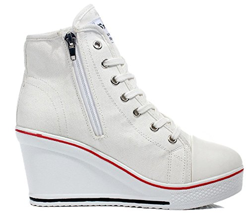 Sneaker White Bianco Donna UK 8 Kivors BwaRxqva