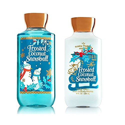 Bath & Body Works Frosted Coconut Snowball Body Lotion & Shower Gel Set