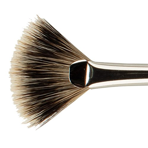 Creative Mark HAMBURG Premier Professional Artist Lacquered Long Handle Synthetic Blend Paint Brush Handmade In Germany [Badger Fan - Size 12]