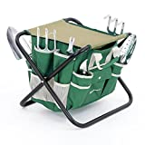 Gardening in the fresh air and sunshine is a real stress-buster when you have the right tools. This SONGMICS 7-piece garden tool set is perfect for all gardens and door plants. The durable garden tote bag with multiple pockets can hold the to...
