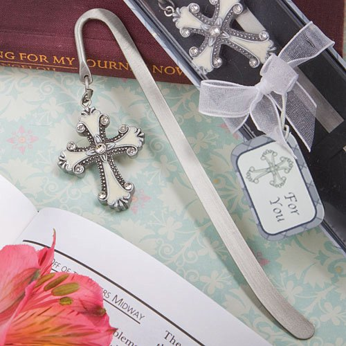 120 Cross Themed Bookmark Favors by Fashioncraft