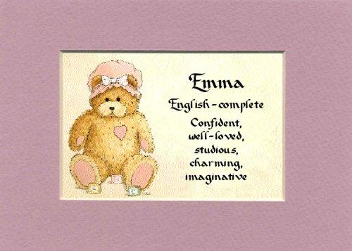 Amazon Personalized Baby Name Emma Nursery Wall Decor Keepsake Gift Made In The USA