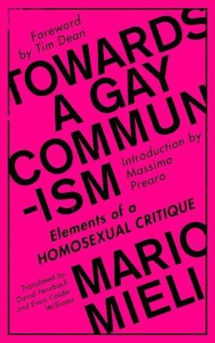 Towards a Gay Communism: Elements of a Homosexual Critique