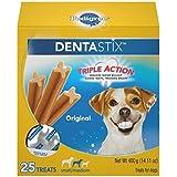 PEDIGREE Dentastix Small/Medium Dog Treats, Original, 25 Treats (Pack of 2)