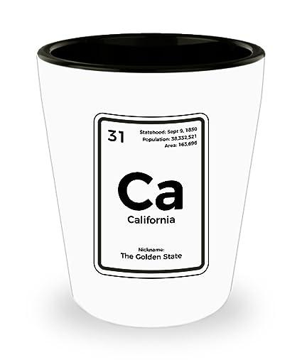 Amazon California Periodic Table Golden State Shot Glass Shot