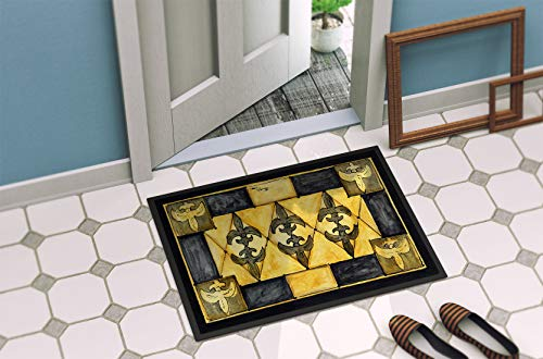 Caroline's Treasures Fleur De Lis Indoor or Outdoor Doormat, 18