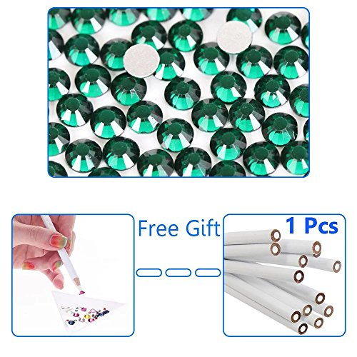 [EYX Formula Pack of 1440 Pcs-0.078''Shining Blingbling Crystal Diamond Rhinestone DIY Nail Sicker Decroation Glass Diamond Sticker with Nail Art Picker Pencil for Phone,Card,Manicure (Dark] (Homemade Halloween Card Ideas)