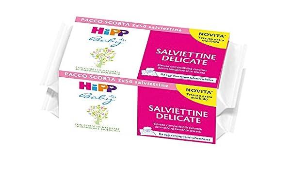 Hipp bebé Toallitas delicado Escort paquete 2x56: Amazon.es: Salud y cuidado personal