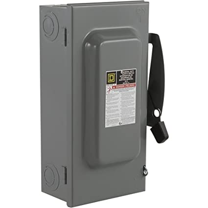 100 Amp Disconnect >> Square D By Schneider Electric D223n 100 Amp 240 Volt Two Pole Indoor General Duty Fusible Safety Switch With Neutral