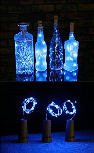 3 Paquetes de Luces de Botella Luces en Forma de Corcho con 15 LEDs Micro para Fiesta Cumpleaños Boda Decoración de Mesa de...