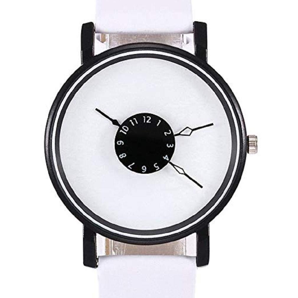 Mujeres Relojes de Cuarzo Liquidación Relojes analógicos Relojes para Mujeres Relojes de Pulsera de Cuero para Mujeres (Blanco): Amazon.es: Relojes