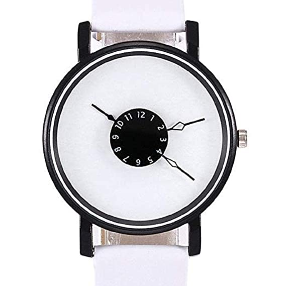 Mujeres Relojes de Cuarzo Liquidación Relojes analógicos Relojes para  Mujeres Relojes de Pulsera de Cuero para Mujeres (Blanco)  Amazon.es   Relojes 4889104d1945