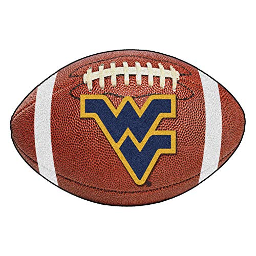 FANMATS NCAA West Virginia University Mountaineers Nylon Face Football Rug