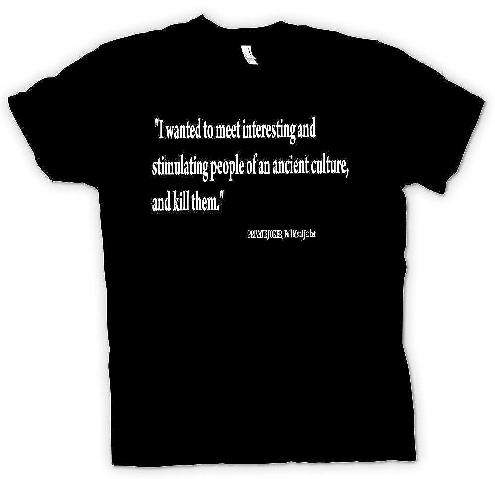 Herren T Shirt Full Metal Jacket Zitat Stanley Kubrick
