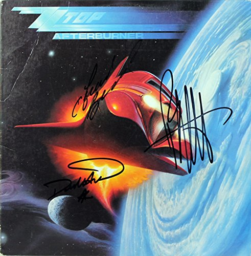 ZZ Top (3) Gibbons, Beard, Hill Signed Afterburner Album Cover W/Vinyl BAS