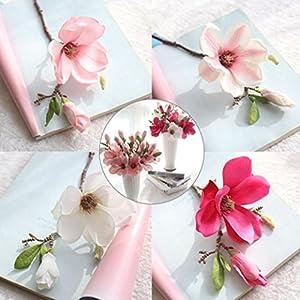 YJYdada Artificial Fake Flowers Leaf Magnolia Floral Wedding Bouquet Party Home Decor 2