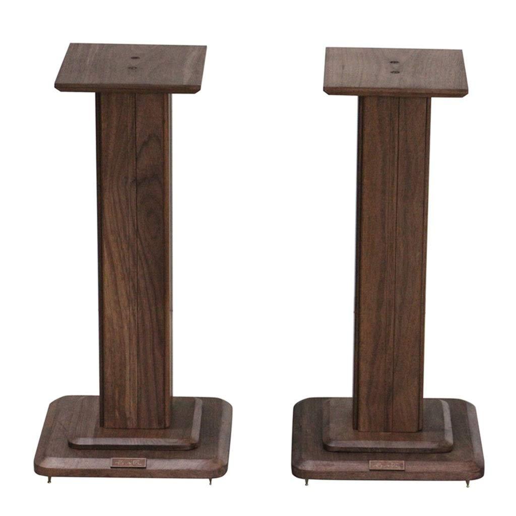 Speaker Stands A Pair of Speaker Brackets Solid Wood Home Bookshelf Audio Rack Floor-Standing Cinema Audio Support (Color : Brown, Size : 30cm (11.8 inch)) by Speaker Stands