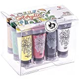 Craftamo Acrylic Paint Set 12 x 27ml Tubes. Acrylic Painting Set For Use On Artist Canvas, As Fabric Paint, Model Paint, Glass Paint, Clay Paint Or Craft Paint Set