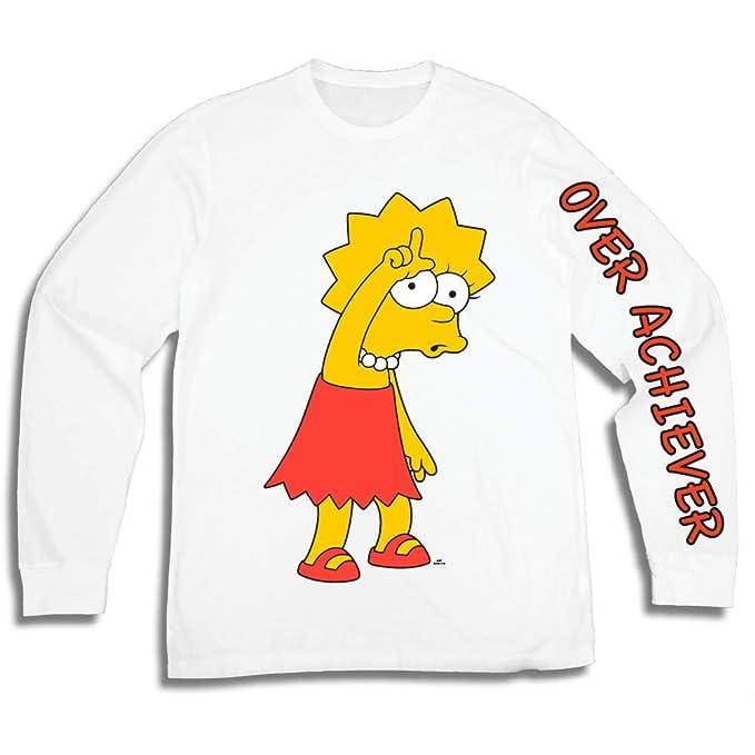 b93de882cc2c The Simpsons Mens Lisa Simpson Long Shirt Lisa Simpsons Long Sleeve Logo Tee  Graphic T-