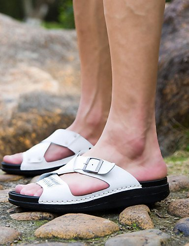 Nappa Lässig Black Büro Sportlich Kleid Outddor Weiß Leather Herrenschuhe Pantoffeln Sandaletten Schwarz ShangYi Herren WZwzqHwY