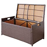 Victoria Young Resin Wicker Deck Box Storage