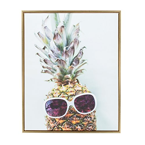 Kate and Laurel - Sylvie Dope Pineapple Portrait Framed Canvas