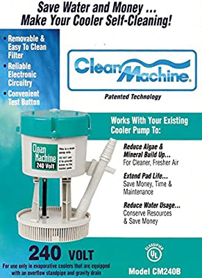 Mastercool CM240B Clean Machine Water Filter Pump System for Evaporative Cooler, 240V