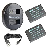Newmowa LP-E12 Battery (2-Pack) and Dual USB Charger for Canon LP-E12 and Canon EOS M, EOS M100, EOS Rebel SL1, EOS M50, EOS 100D