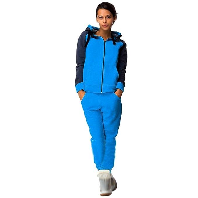 b7cc68b2584b Pantalones Ropa deportiva Baymate Mujer Chándal 2PCS Conjuntos ...