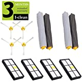 I-clean Replacement Parts for iRobot Roomba 860 880 805 860 980 960 Vacuums, with 4Hepa Filter, 4Side Brush, 2Tangle-Free Debris Extractor