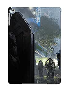 VWHozLg3597fGhGS Eatcooment Awesome Case Cover Compatible With Ipad Air - Futuristic Soldier Hiding From The Police wangjiang maoyi