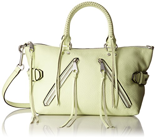 Rebecca Minkoff Moto Satchel Shoulder Bag Honey Dew One Size