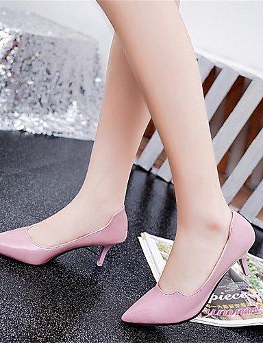 GGX/ Damen-High Heels-Lässig-Lackleder-Niedriger Absatz-Absätze-Schwarz / Rosa pink-us8 / eu39 / uk6 / cn39