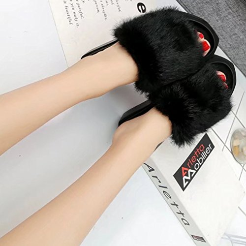 Zapatos TWGDH Sandalias Black De Deporte Bajos Solapa Gruesos Mujeres Zapatillas Con Verano Ftptg