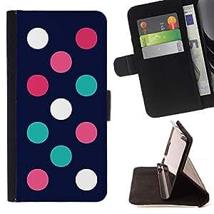 For Samsung Galaxy S4 Mini i9190 (NOT S4) Case , Minimalista Teal Navy Pink- la tarjeta de Crédito Slots PU Funda de cuero Monedero caso cubierta de piel